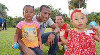 Familia: papá, mamá y dos hermanas